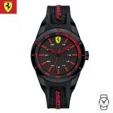 (100% Original) Scuderia Ferrari Men's 0840004 Redrev Watch (Black & Red)