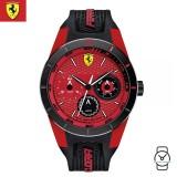 (100% Original) Scuderia Ferrari Men's 0830255 Redrev T Watch (Black & Red)