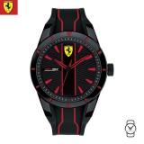 (100% Original) Scuderia Ferrari Unisex's 0830479 Redrev Watch (Black & Red)