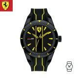 (100% Original) Scuderia Ferrari Unisex's 0830480 Redrev Watch (Black & Yellow)