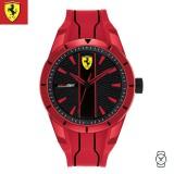 (100% Original) Scuderia Ferrari Unisex's 0830494 Redrev Watch (Red & Black)