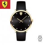 (100% Original) Scuderia Ferrari Women's 0820021 Donna Black Watch (Black)