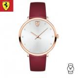 (100% Original) Scuderia Ferrari Women's 0820022 Donna Red Watch (Red)