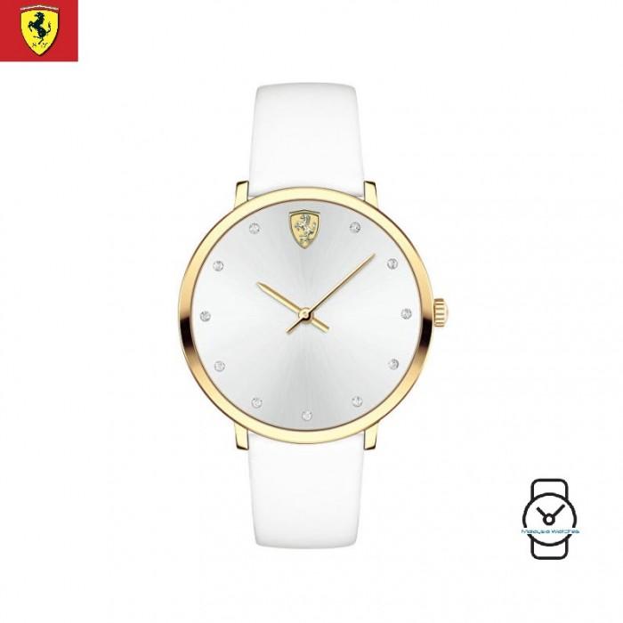 100 Original Scuderia Ferrari Women S 0820023 Donna White Watch White
