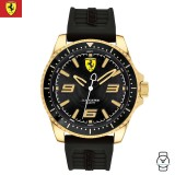 (100% Original) Scuderia Ferrari Men's 0830485 XX Kers Watch (Black & Gold)