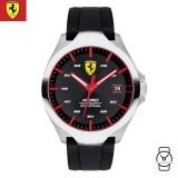 (100% Original) Scuderia Ferrari Men's 0830506 Aero Watch (Black & Silver)