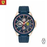 (100% Original) Scuderia Ferrari Men's 0830511 Aero Watch (Navy & Rose Gold)