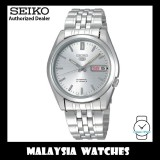 Seiko 5 Automatic SNK355K1 Silver Dial See-thru Back Case Stainless Steel Bracelet Watch
