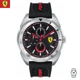 (100% Original) Scuderia Ferrari Men's 0830546 Forza Watch (Black & Silver)