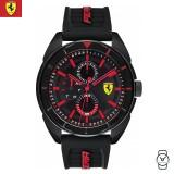 (100% Original) Scuderia Ferrari Men's 0830547 Forza Watch (Black & Red)