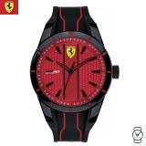 (100% Original) Scuderia Ferrari Men's 0830540 Redrev Watch (Black & Red)