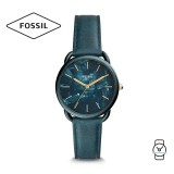 Fossil Women ES4423 Tailor Three-Hand Teal Green Leather Watch (Teal Green)