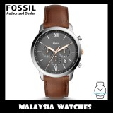 (OFFICIAL WARRANTY) Fossil Men's FS5408 Neutra Chronograph Brown Leather Watch (2 Years International Warranty)