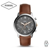Fossil Men's FS5408 Neutra Chronograph Brown Leather Watch (Brown)