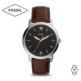 Fossil Men's FS5464 The Minimalist Three-Hand Brown Leather Watch (Brown)