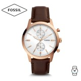 Fossil Men's FS5468 Townsman Chronograph Java Leather Watch (Brown)