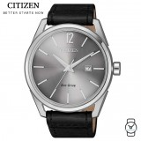 (100% Original) Citizen BM7411-16A Eco Drive Gent's Leather Watch