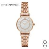(100% Original) Emporio Armani Ladies' AR1909 Classic Mother of Pearl Dial Stainless Steel Watch (Rose Gold)