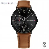 (100% Original) Tommy Hilfiger Men's 1791510 Brown Leather Watch (Brown)