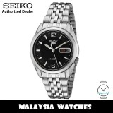 Seiko 5 SNK393K1 Automatic See-thru Back Black Dial Silver-Tone Stainless Steel Men's Watch