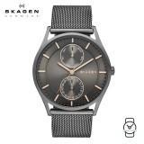 (100% Original) Skagen Men's SKW6180 Holst Multi-function Grey Dial Mesh Watch (Grey)