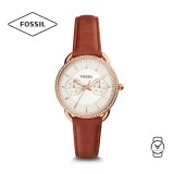 Fossil Women's ES4422 Tailor Multifunction Terracotta Leather Watch