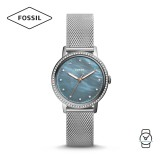 (OFFICIAL WARRANTY) Fossil Women ES4313 Neely Three-Hand Stainless Steel Watch (Silver)