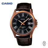 Casio Unisex MTP-1376RL-1BVDF Classic Analogue Leather Watch (Free Shipping)