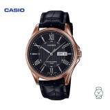 Casio Men's MTP-1384L-1A2VDF Enticer Series Leather Watch (Free Shipping)