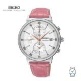 Seiko Ladies SNDV35P1 Chronograph Leather Watch