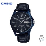 Casio Men's MTP-1384BUL-1AVDF Enticer Series Leather Watch (Free Shipping)