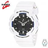 (OFFICIAL MALAYSIA WARRANTY) Casio G-SHOCK GA-100B-7A Standard Analogue-Digital Men's Resin Watch (White)