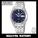 Seiko 5 Automatic SNK357K1 Dark Blue Dial See-thru Back Case Stainless Steel Bracelet Watch