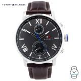(100% Original) Tommy Hilfiger Alden Men's 1791309 Leather Watch (Dark Brown)