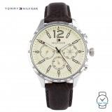 (100% Original) Tommy Hilfiger Gavin Men's 1791467 Leather Watch (Brown)