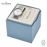 (100% Original) Skagen Ladies SKW1105 Freja Stainless Steel Mesh Watch (Silver)