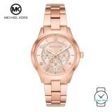 (100% Original) MICHAEL KORS Ladies MK6589 Runway Chronograph Stainless Steel Watch