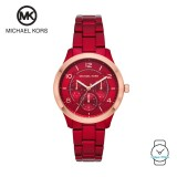 (100% Original) MICHAEL KORS Ladies MK6594 Runway Chronograph Stainless Steel Watch