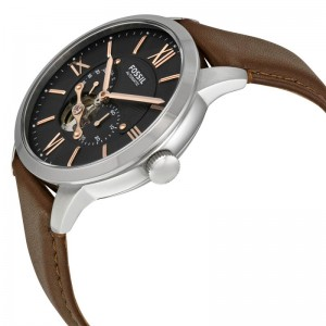 Fossil Men's ME3061 Townsman Mechanical Leather Watch (Dark Brown)