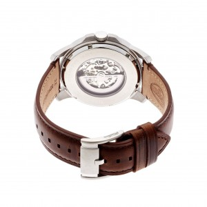 Fossil Men's ME3099 Grant Automatic Leather Watch (Dark Brown)