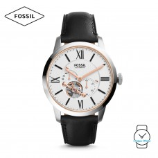 Fossil Men's ME3104 Townsman Automatic Leather Watch (Black)
