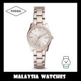 Fossil Women ES4363 Scarlette Three-Hand Stainless Steel Watch (Pastel Pink)