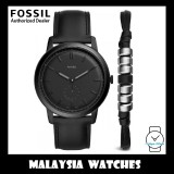 (OFFICIAL WARRANTY) Fossil Men's FS5500SET The Minimalist Watch & Bracelet Gift Set