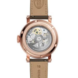 Fossil Women ME3089 Original Boyfriend Automatic Leather Watch (Grey)