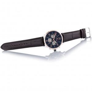 (100% Original) Tommy Hilfiger Keagan Men's 1791290 Leather Watch (Brown)