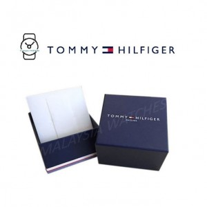 (100% Original) Tommy Hilfiger Decker Men's 1791474 Silicon Watch (Navy Blue)