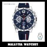 (100% Original) Tommy Hilfiger Decker Men's 1791476 Silicon Watch (Navy Blue)