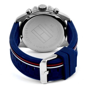 (100% Original) Tommy Hilfiger Decker Men's 1791476 Silicon Watch (Navy Blue)