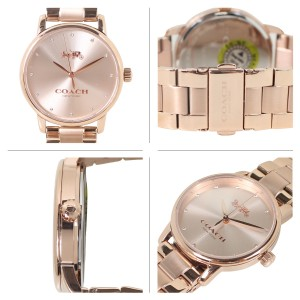 (100% ORIGINAL) Coach Ladies' 14502929  Stainless Steel Watch (Rose Gold)