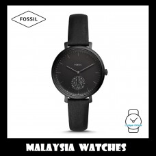 (OFFICIAL WARRANTY) Fossil Women ES4490 Jacqueline Three-Hand Leather Watch (Black)